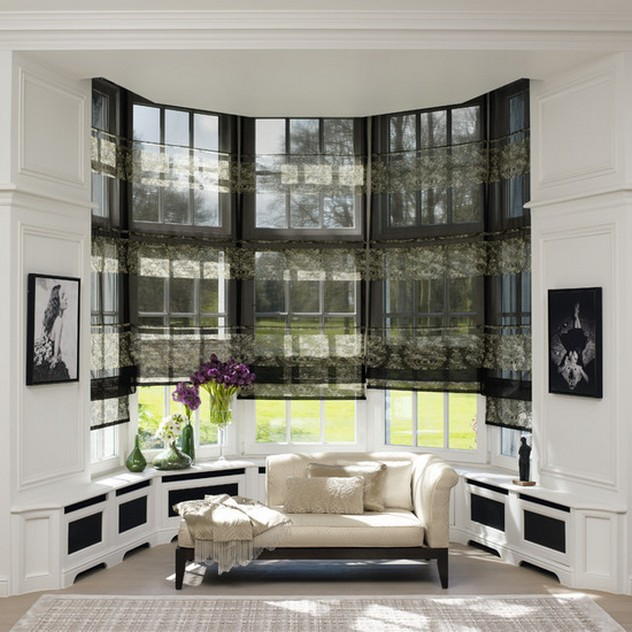 черные шторы к белым стенам