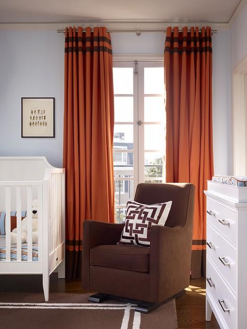 шторы к голубым обоям в детской
