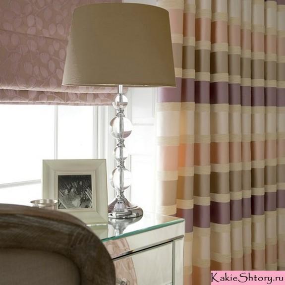 разноцветные полосатые шторы
