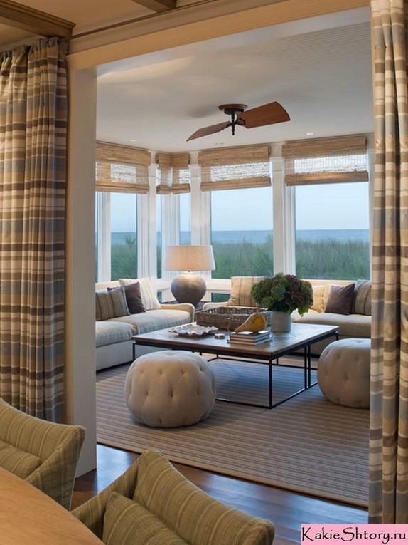 горозонтальные полоски на шторах