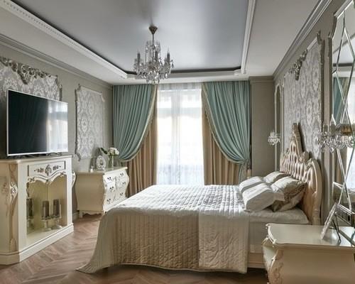 портьеры ампир в спальне