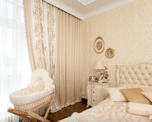 шторы ампир в спальне