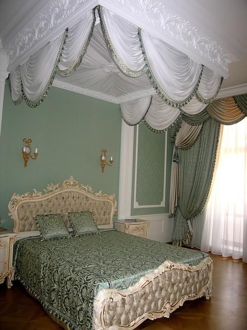 спальня и шторы ампир