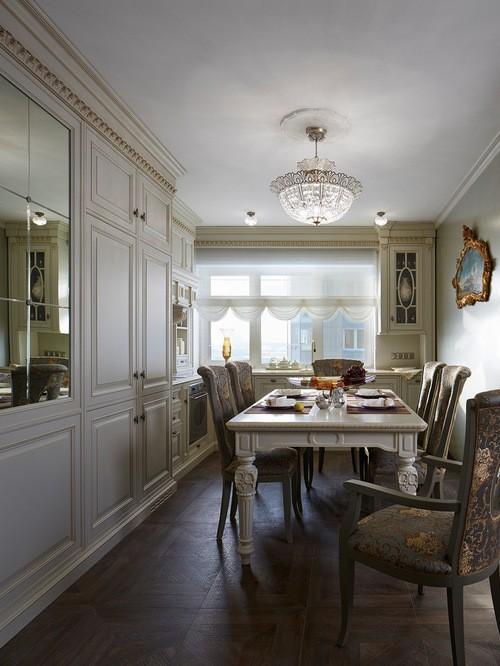 шторы ампир на кухне