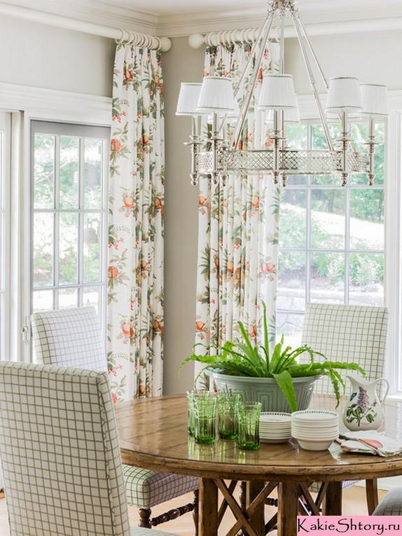 кантри шторы в цветочек