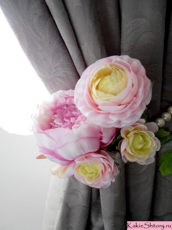 подхват для штор в форме цветка