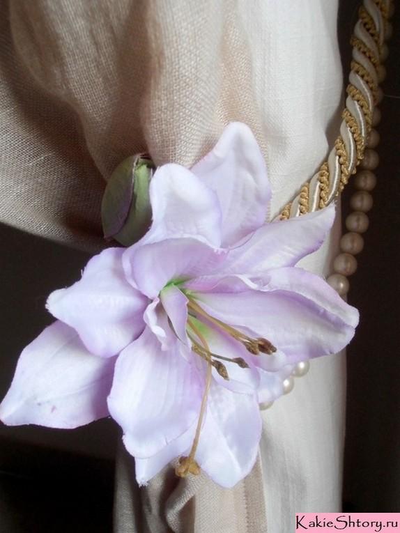 цветочный подхват для штор