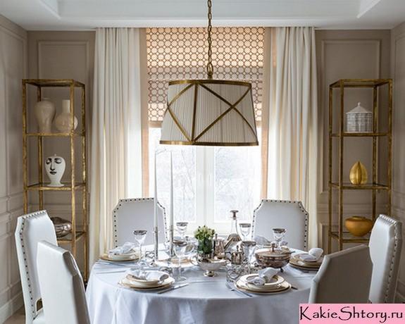 шторы молочного цвета в гостиной