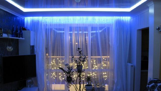 Красивое освещение комнаты своими руками 74