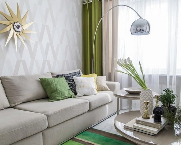 шторы к белым стенам в гостиной
