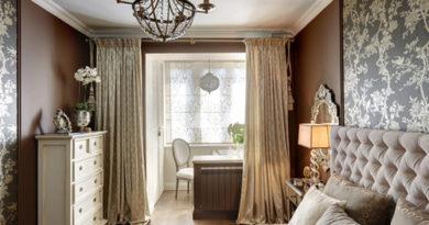шторы под коричневые стены
