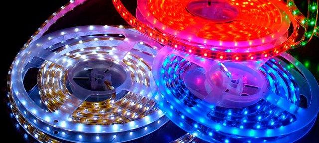 ленты со светодиодами разных цветов