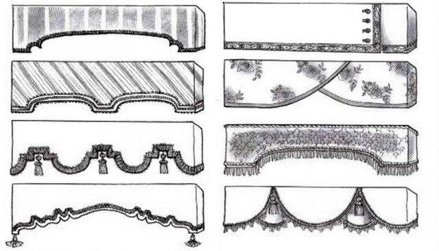 варианты дизайна прямых ламбрекенов