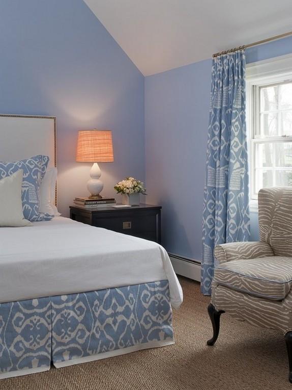 голубые шторы прованс