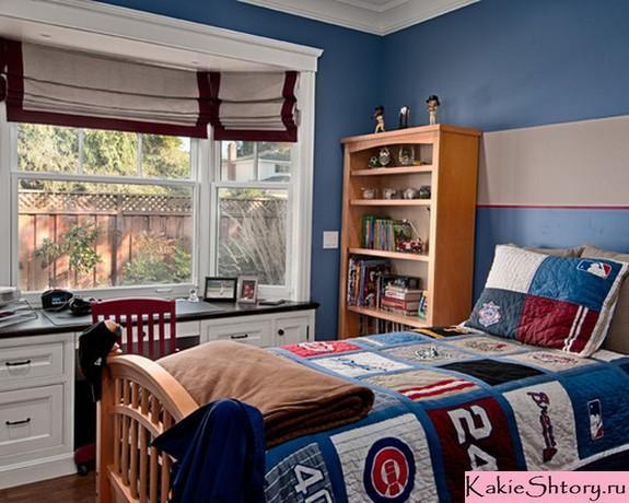 шторы под синие стены в детской