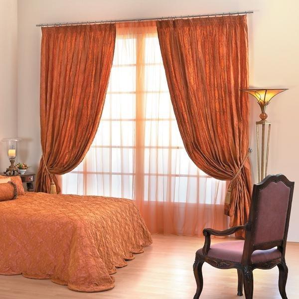 терракотовые шторы и текстиль