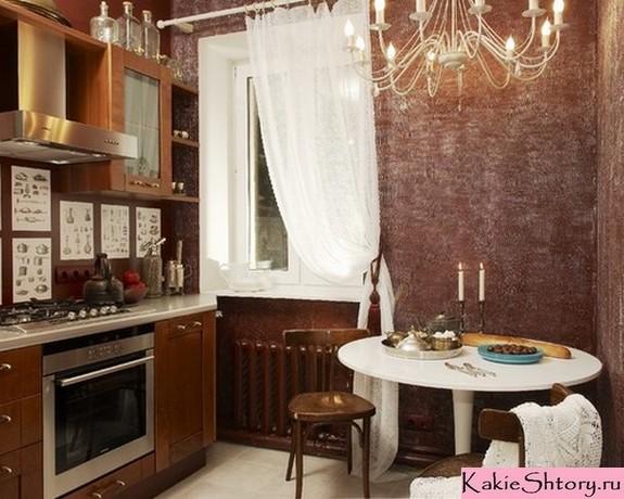 тюль на одну сторону в кухне