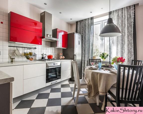 шторы и тюль в кухне