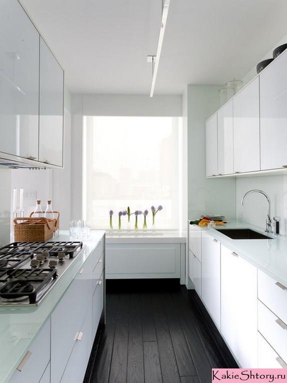 короткий тюль в кухне