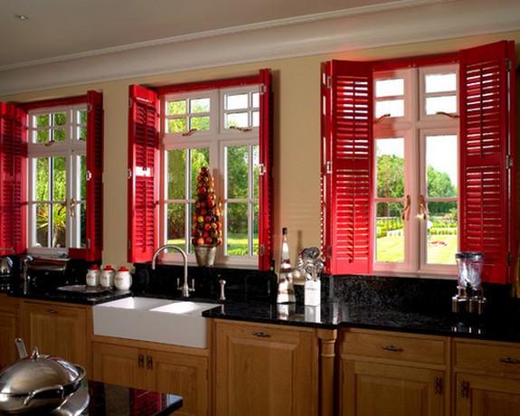 ставни-шаттерсы на кухне