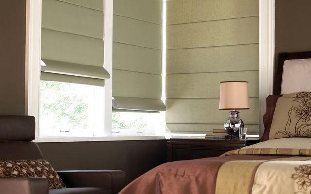 штора блэкаут в спальне