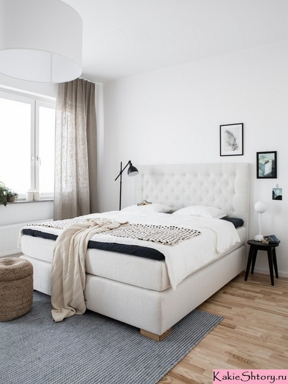 тюль бежевого цвета в спальне