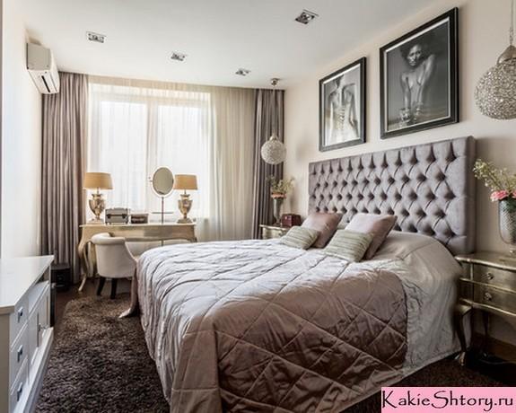 текстильное оформление бежевой спальни
