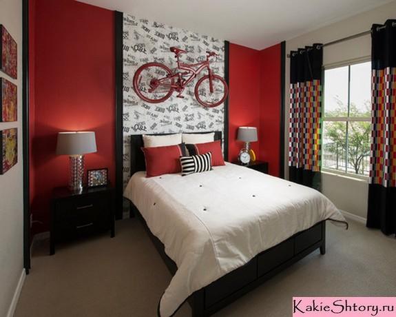 шторы к красным стенам