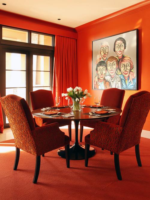 Dining room orange