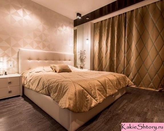 коричневые шторы к персиковому цвету стен