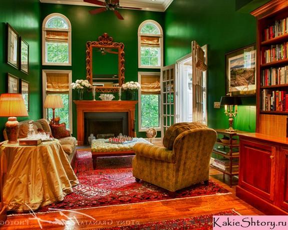 шторы к зеленым обоям