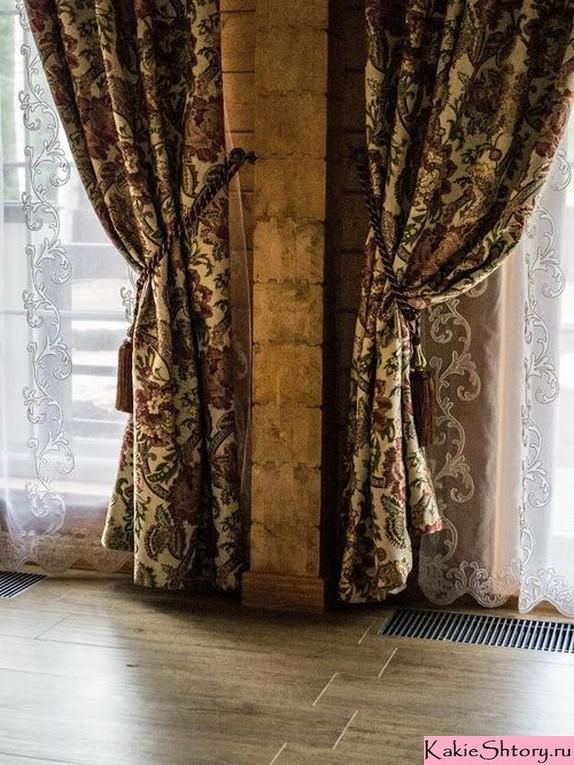 зимние шторы из гобелена