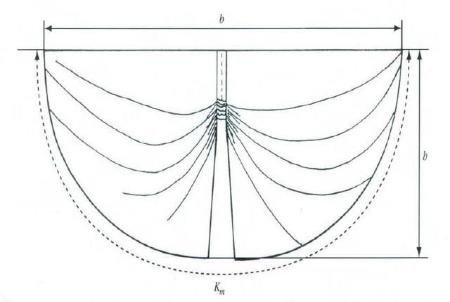 чертеж ламбрекена в форме бабочки