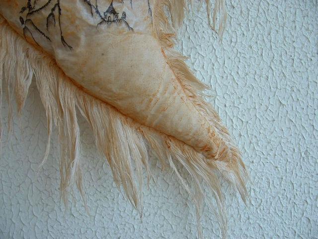 наволочка из состаренной ткани
