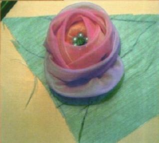 подхват для штор из цветов из ткани своими руками