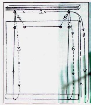 как сшить рулонную штору