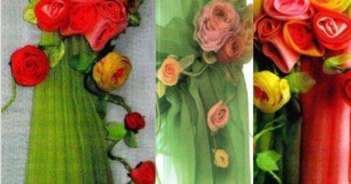тканевые цветы для подхватов