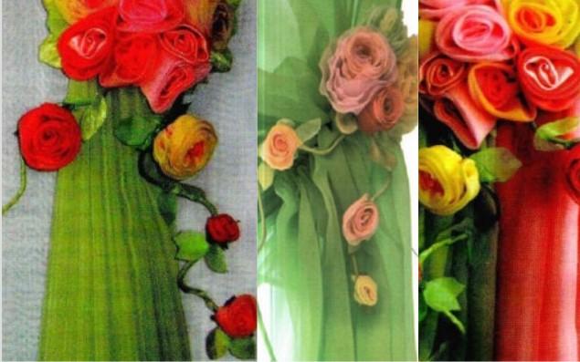 Шторы своими руками с розами 13
