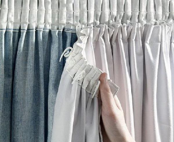 шторная тесьма на подкладке шторы