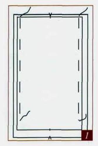 как сшить штору на подкладке своими руками