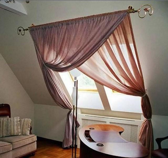 шторы на наклонные мансардные окна