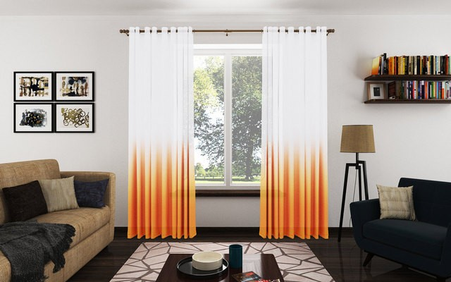 шторы с переходом цвета омбре