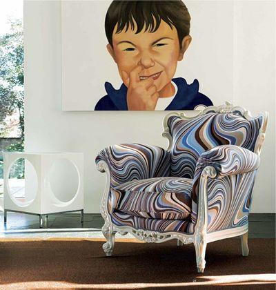 узор обивки кресла