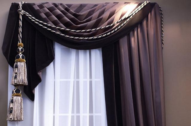 декорирование элитных штор