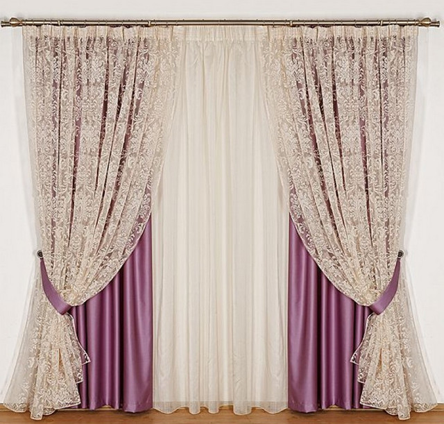 шторы из двух полотен
