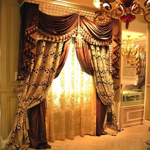 элитные шторы из бархата