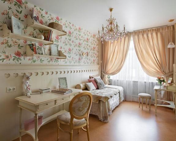 шторы и тюль в детской спальне