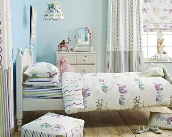 шторы для детской пастельных тонов