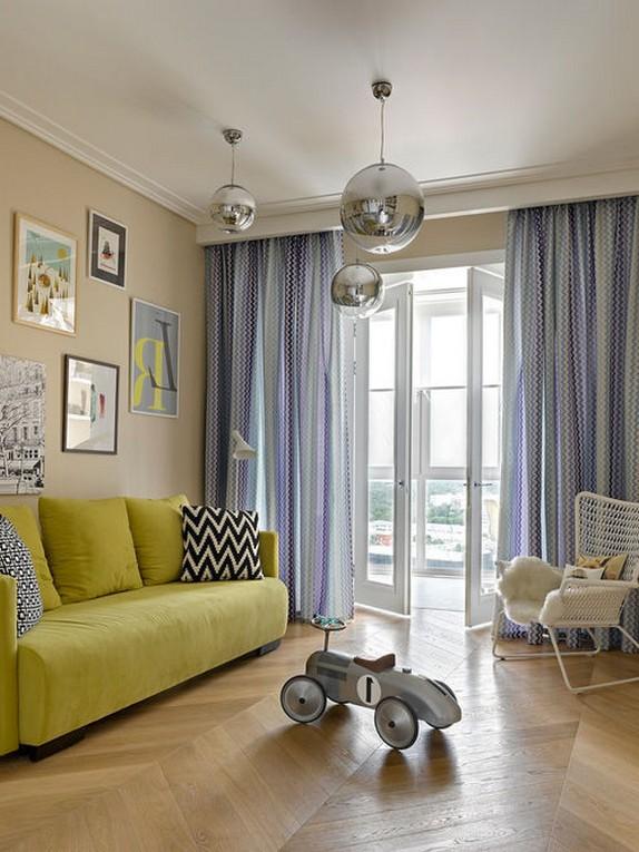классические шторы для детской