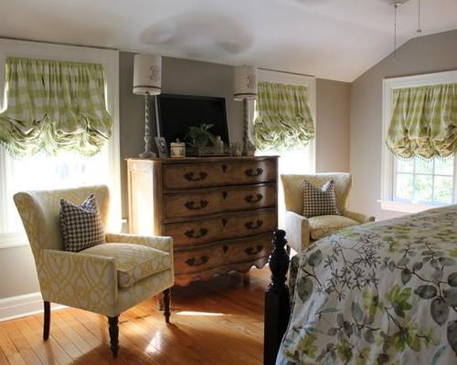 подъемные австрийские шторы в спальне